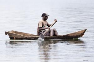 Pêcheur local sur le Lac Victoria